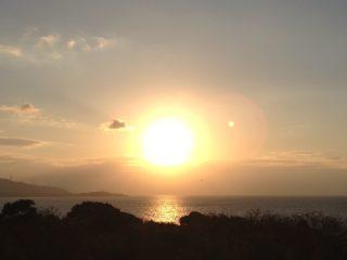 淡路の夕陽